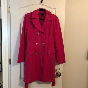 Coat double breasted Berry w/silver buttons.